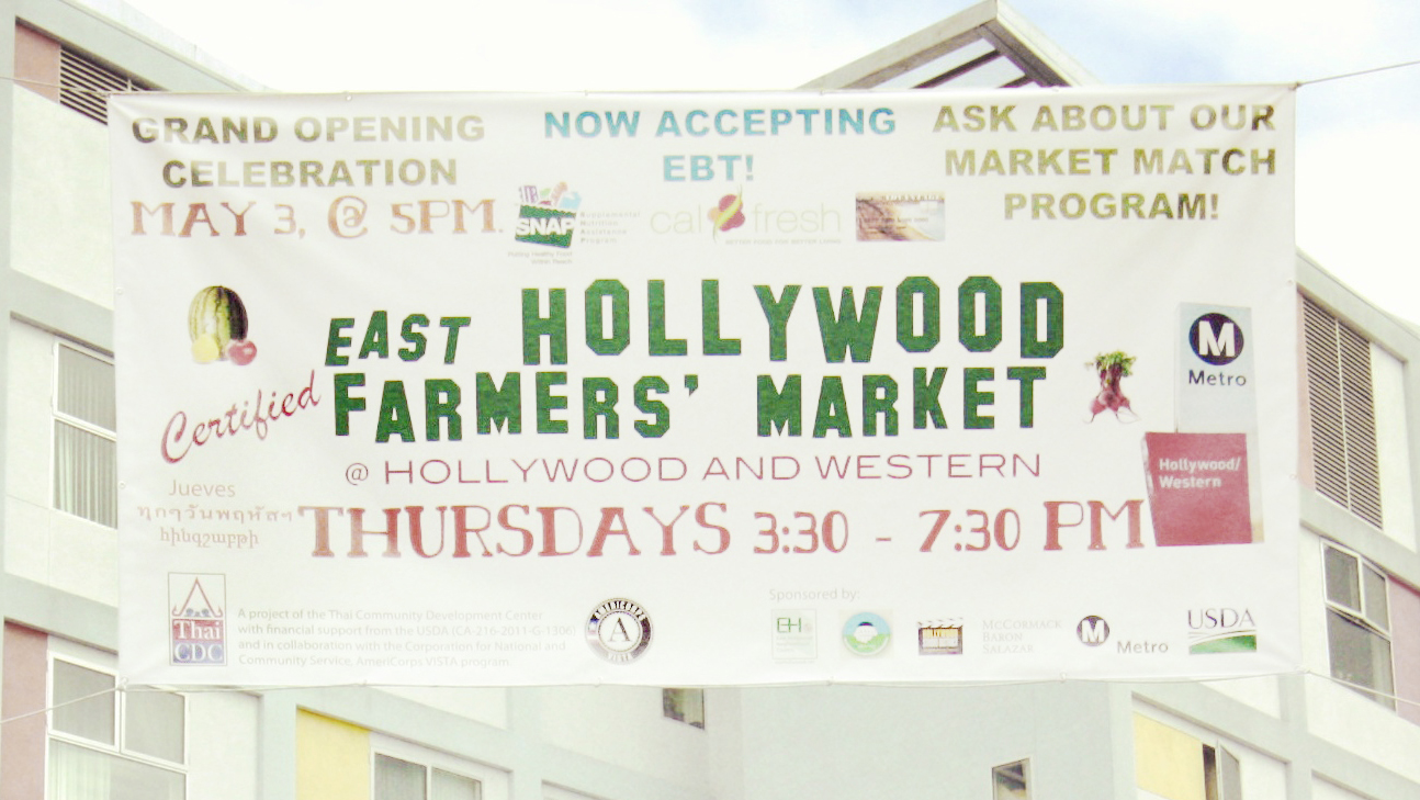 Thai CDC's East Hollywood Certified Farmers' Market Awarded $94,681